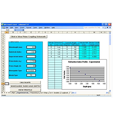 광 도파관 분석 소프트웨어 (Optical waveguiding analysis software)